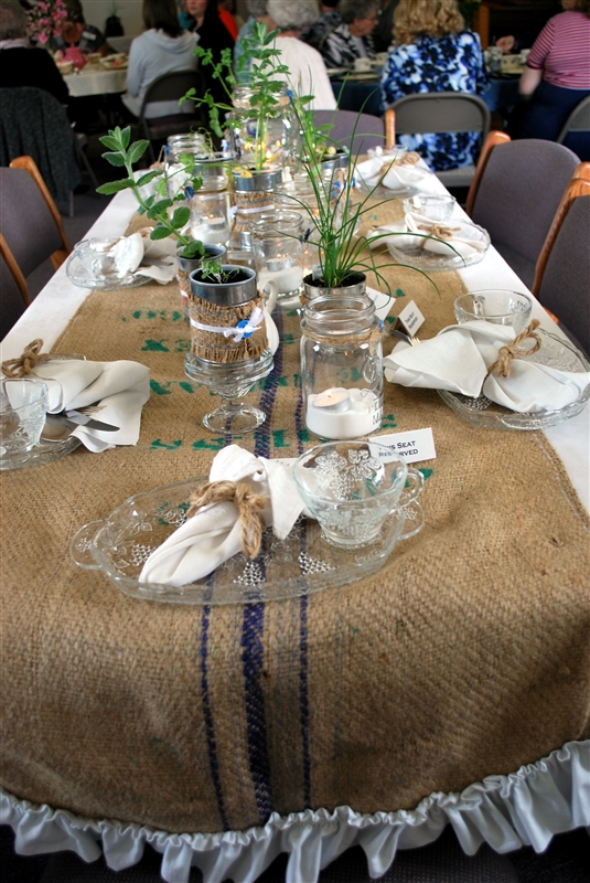 prairie scraps tea party table decorating
