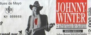 entrada de concierto de johnny winter