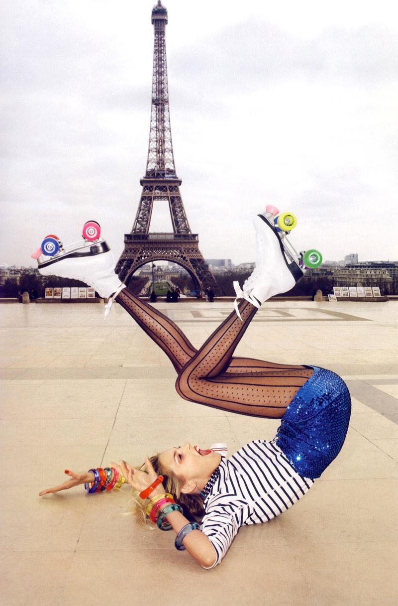 Anja Rubik in Vogue Paris June/July 2009 (photography: Terry Richardson) via fashioned by love british fashion blog