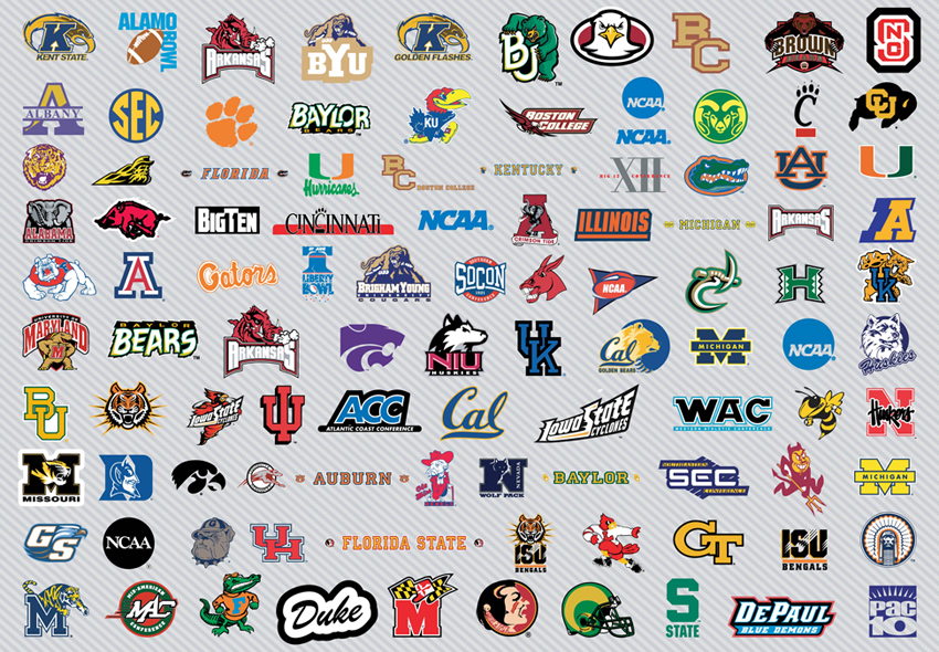 NCAA College Basketball Team Logos