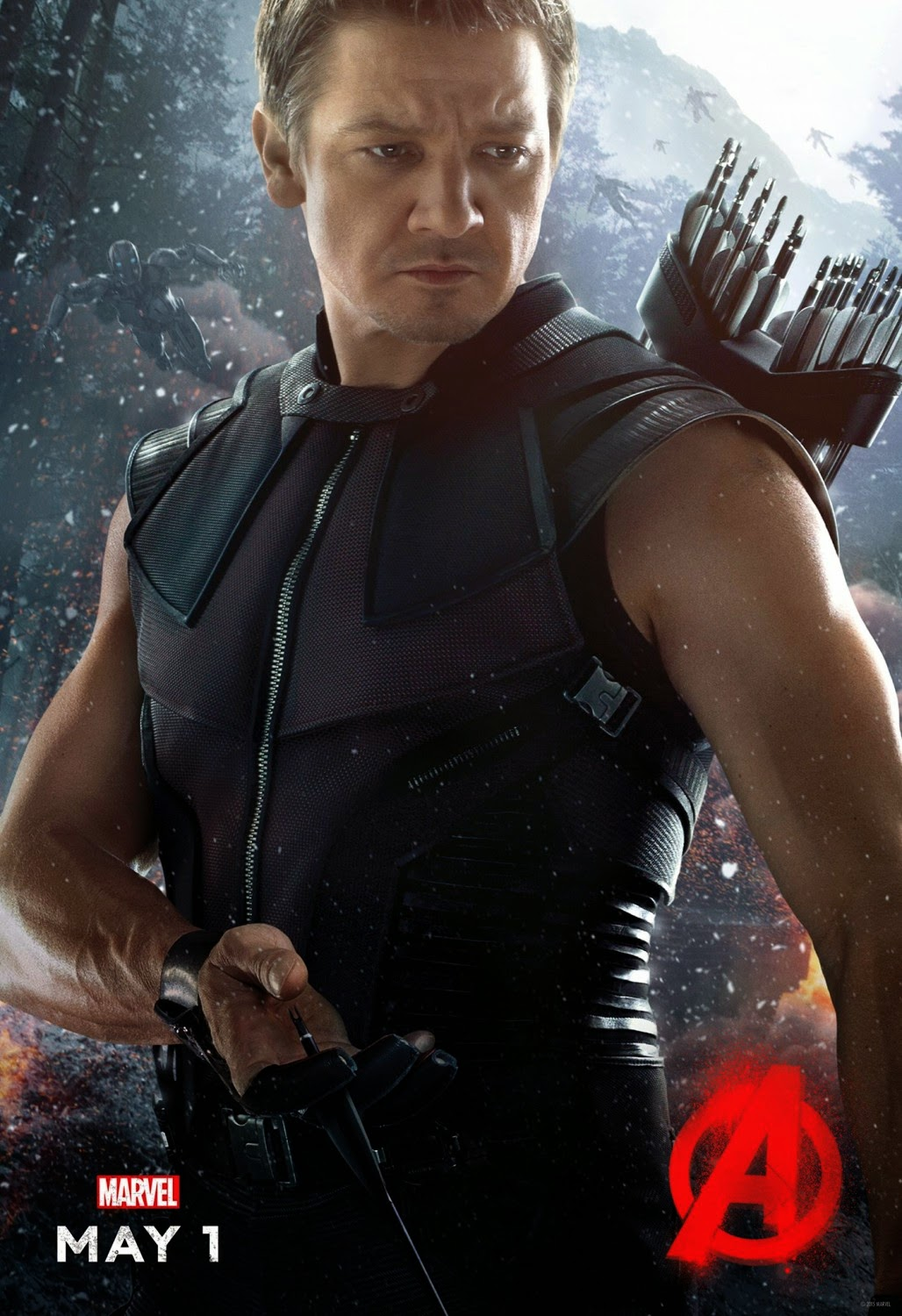 Marvel's Avengers Age of Ultron Character Movie Poster Set - Jeremy Renner as Hawkeye