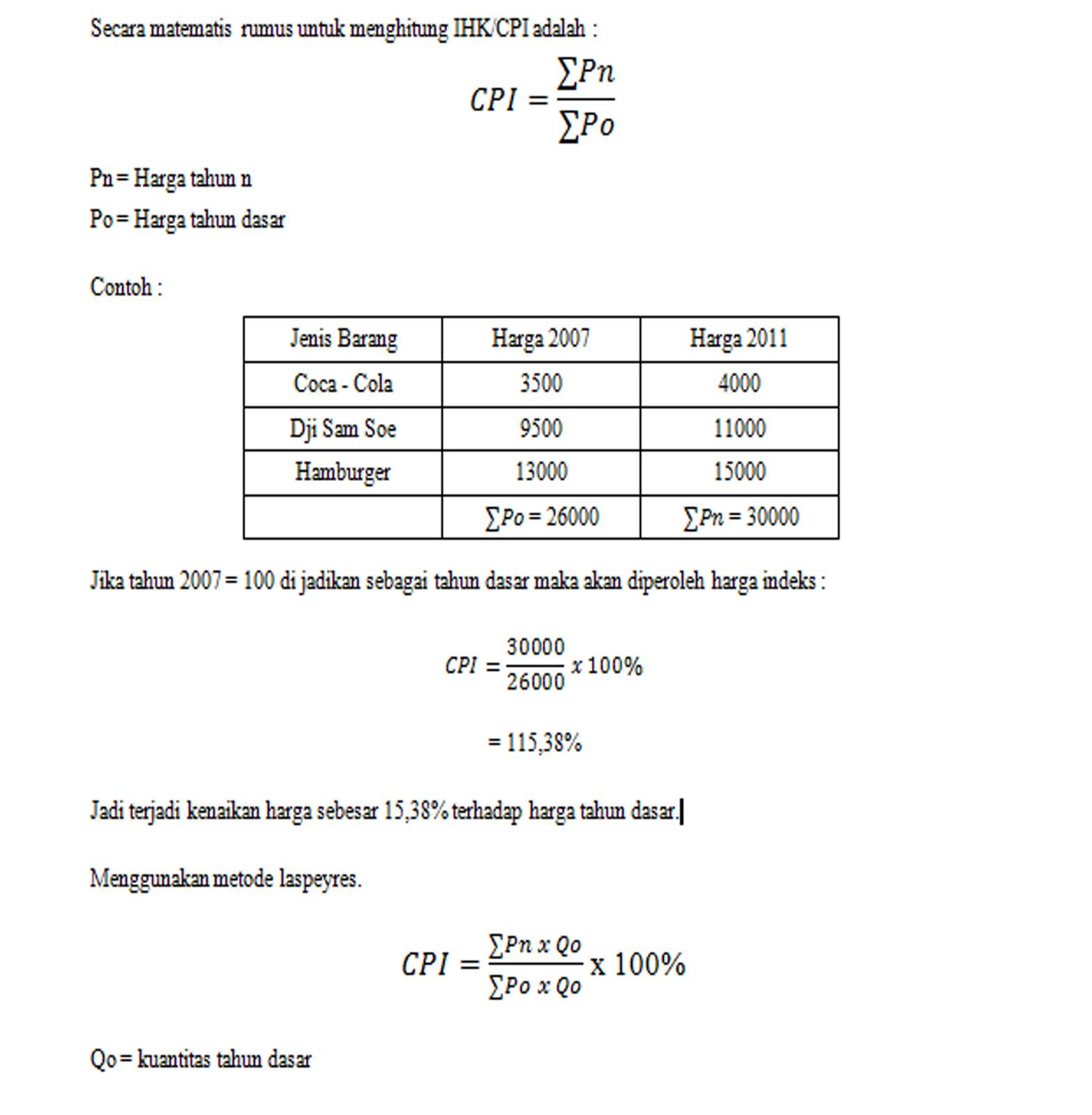 Economic watcher september 2012 secara matematis rumus untuk menghitung ihkcpi adalah ccuart Image collections
