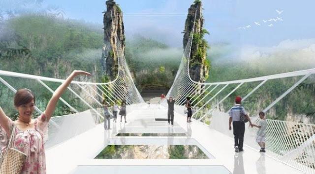 Jembatan kaca tertinggi didunia