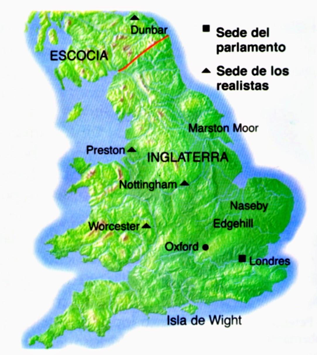 Mapa De Inglaterra Con Division Politica