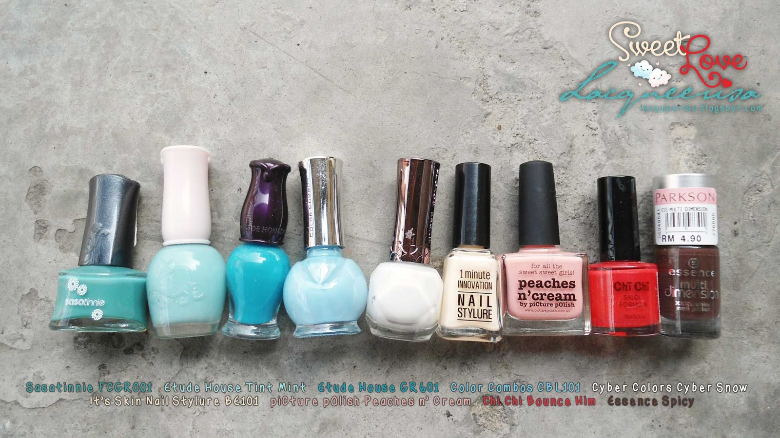 Lacqueerisa: Sweet Love Nail Polishes