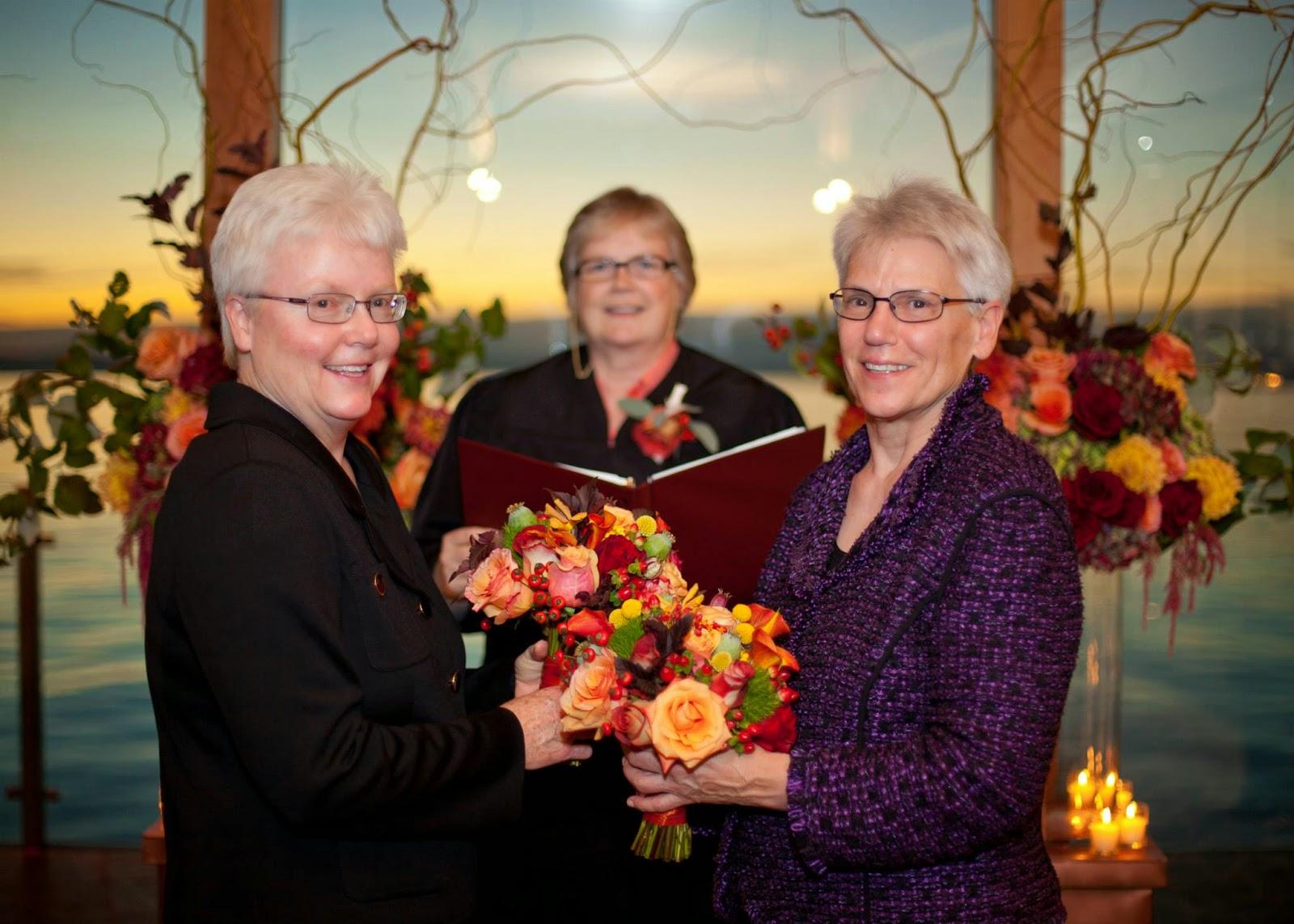 Same Sex wedding Seattle Edgewater Hotel