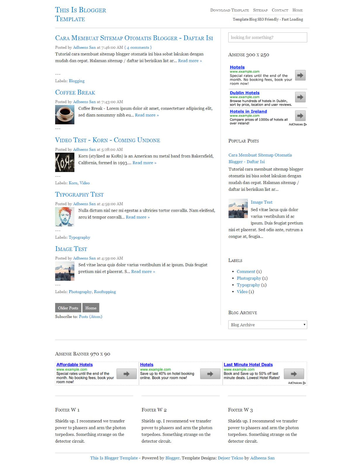Template Blogger Responsive Gratis 2014