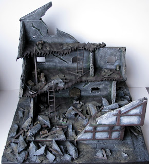 Makieta do gier bitewnych ruin budynku miasta Mordheim WFB