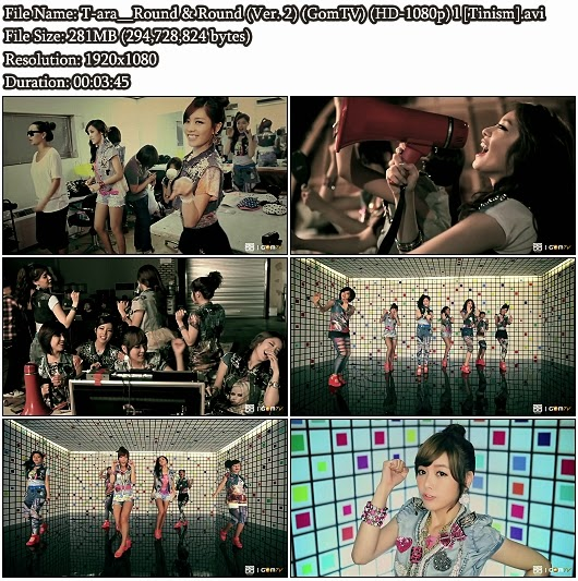 Download MV T-ara (티아라) - Round & Round (빙글빙글) (Version 2) (GomTV Full HD 1080p)