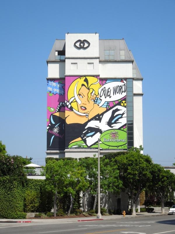 Bubblehead Cruel World billboard