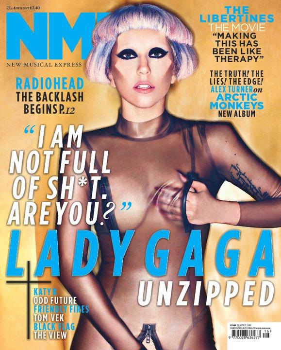 Lady Gaga nue NME Magazine