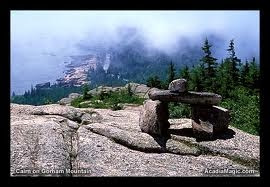 Trailside cairn - Acadia National Park
