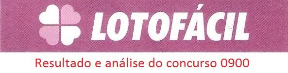 Análise e resultado lotofacil 0900