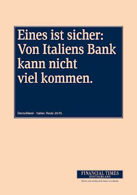 Von Italiens Bank kann nicht viel kommen