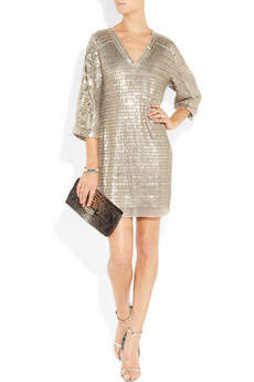 Embellished silk-chiffon mini dress by Reed Krakoff - out look