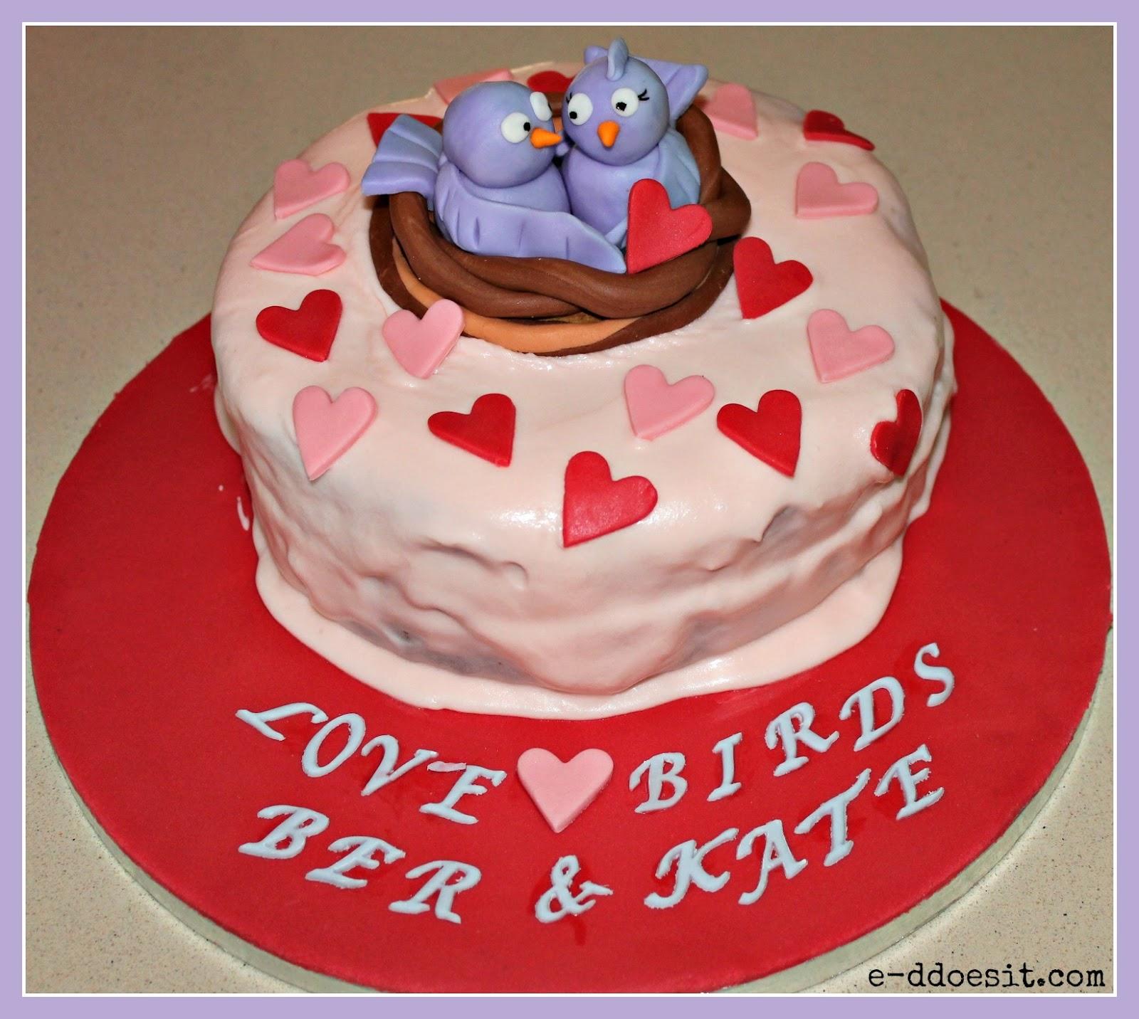 ED Does It Love Birds Anniversary Cake