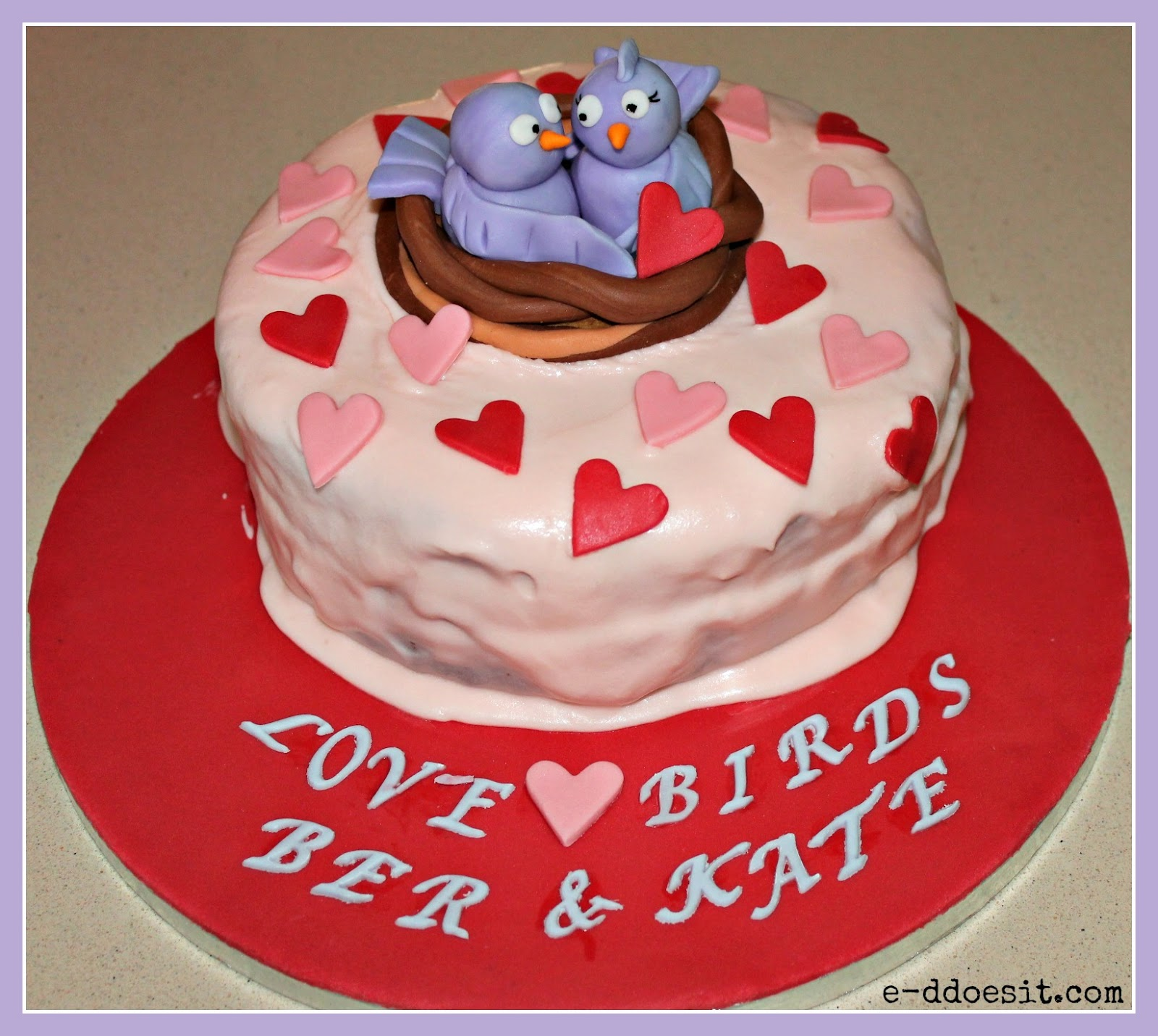Love Anniversary Cake Images : E-D Does It: Love Birds Anniversary Cake