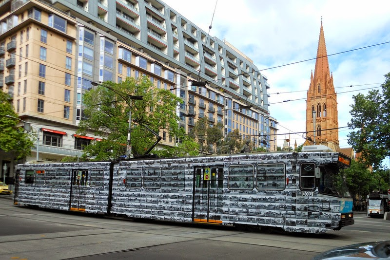 A colorful Melbourne Art trams, Melbourne Festival