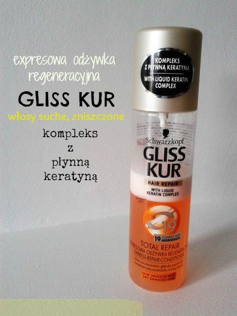 Gliss Kur - expresowa odżywka regeneracyjna z kompleksem z płynną keratyną dla włosów suchych i zniszczonych.