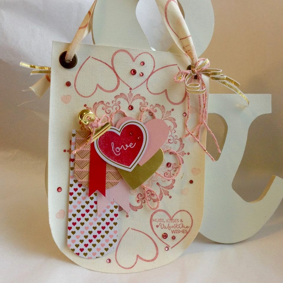 Valentine Build a Banner Alternate Paper Pumpkin Jan 2015