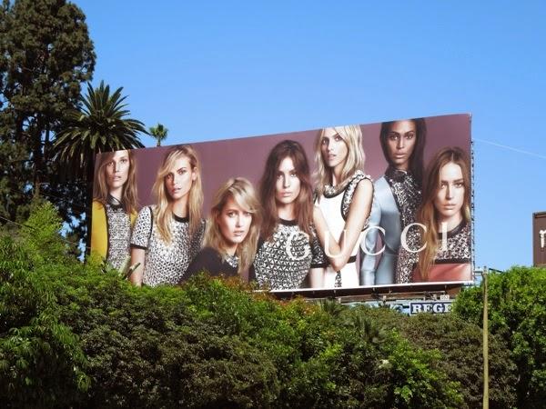 Gucci F/W 2014 female models billboard