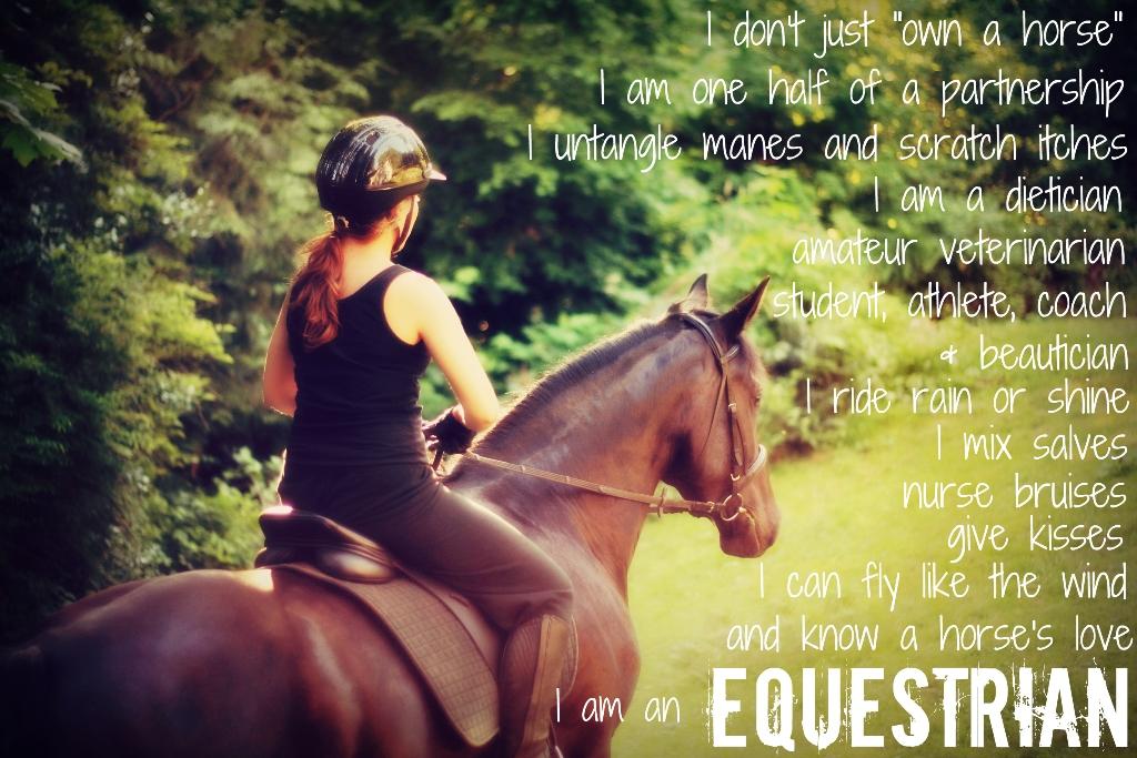 Quotes I Am An Equestrian. QuotesGram