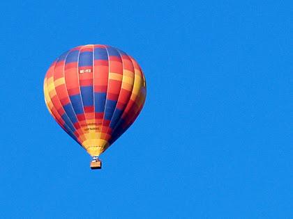 Globus sobre el Camp d'Aviació