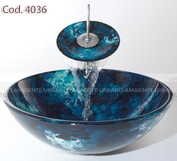 Griferia Vidrio Cascada Para Baño Diseno Elegancia:42 x 14 cm para completar el conjunto una grifería de cascada modelo