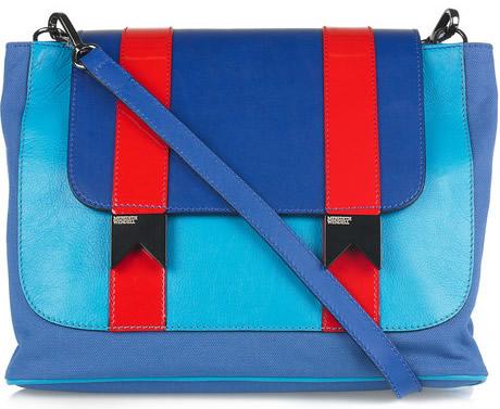 Barevné bloky na luxusní kabelce od Meredith Wendell 8631655406e