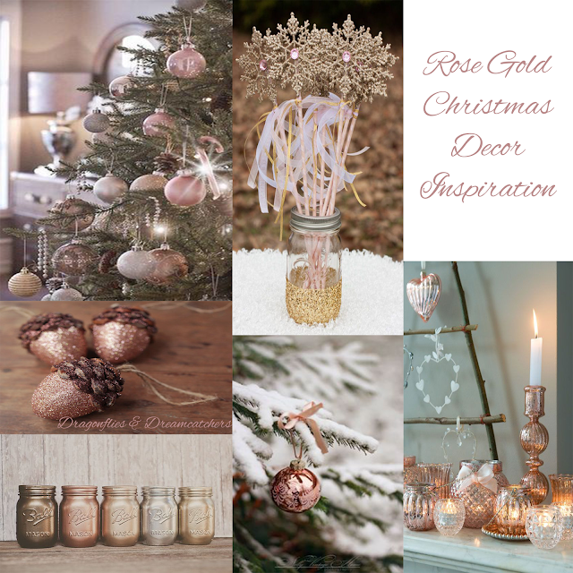 Rose, Gold, Christmas, Decor, Inspiration