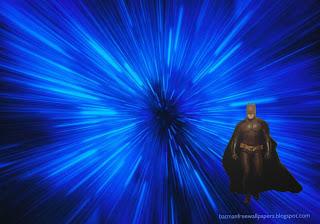 Batman Dark Knight Ready to Fight in Blue Vortex Desktop wallpaper