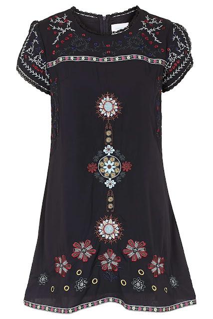 jovonna embroidered dress, jovonna black dress, embroidered black dress,