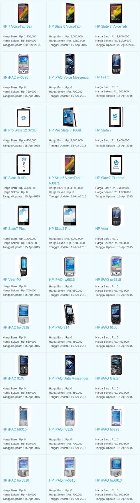 Daftar Harga Hp HP Desember 2015