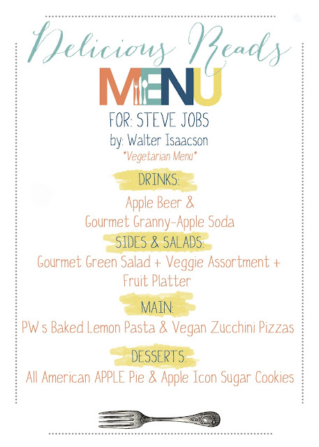Steve Jobs Book Club Menu