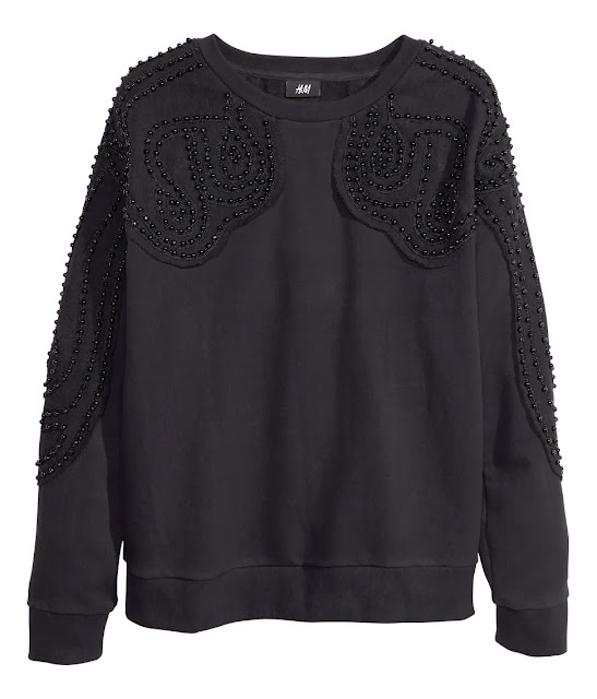 black beaded sweater