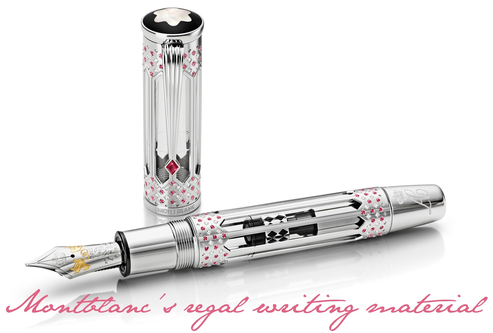 to give you a first look at the exclusive Montblanc writing instrument