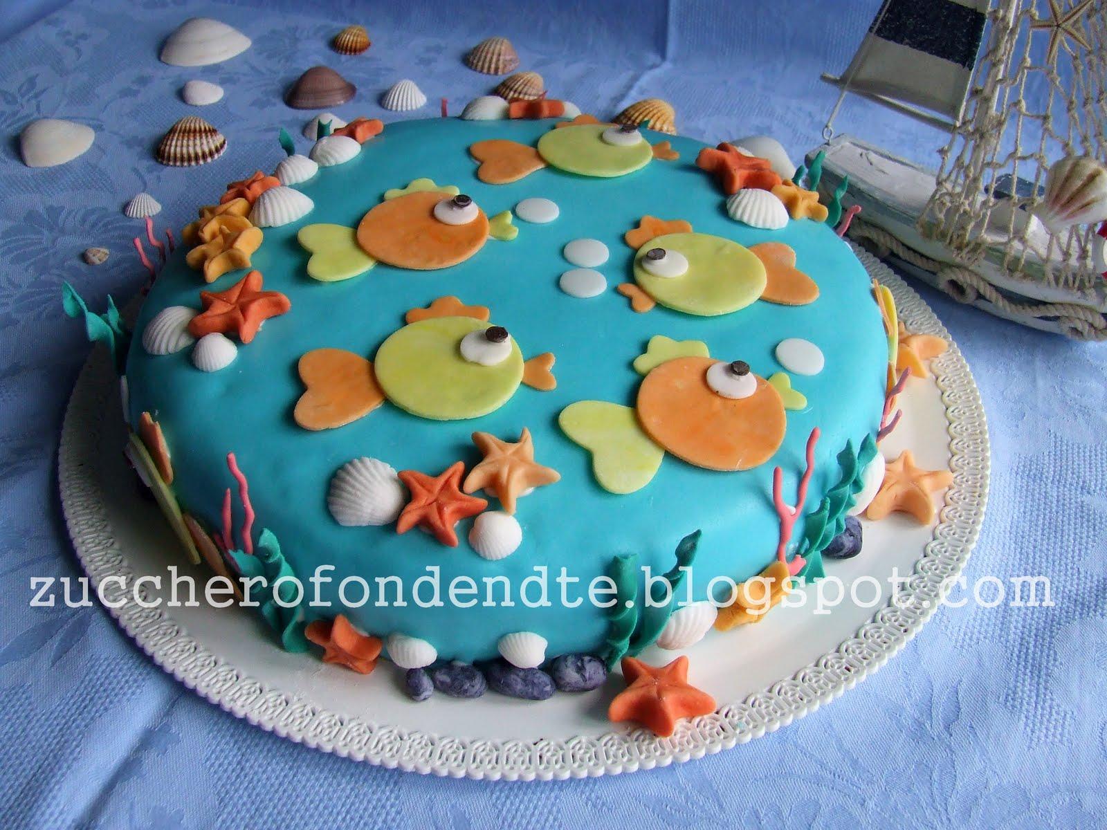 Zuccherofondente decorazioni marine for Decorazioni torte tema mare
