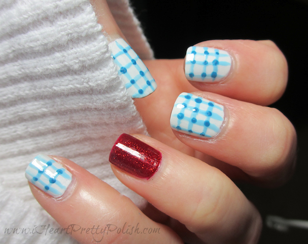Dorothy Wizard of Oz Nail Art