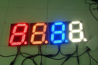 bright led digits, 12inch led segment digit , number display