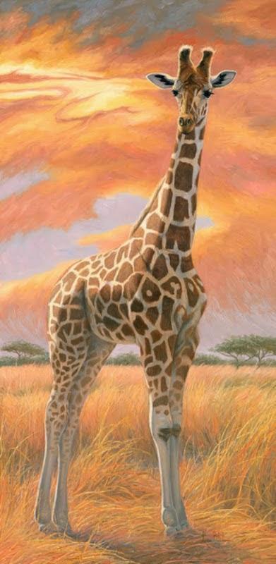 pinturas-de-jirafas-en-paisajes