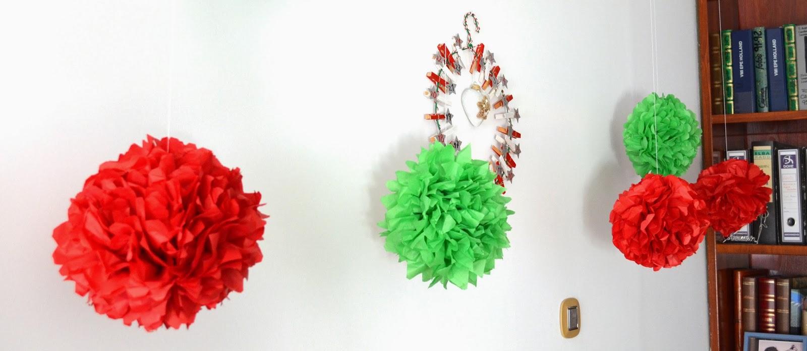 Decoracion Italiana Para Fiestas ~ empezamos haciendo unos pompones gigantes, de esos que est?n tan de