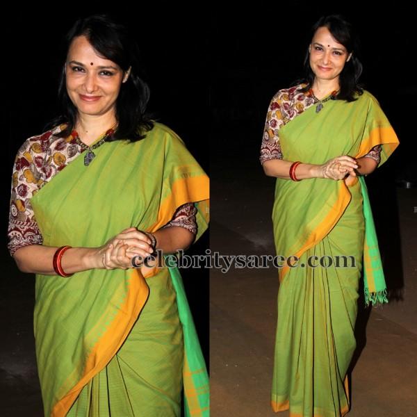 Amala Light Green Khadi Saree
