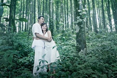 Liar Hutan Alam Sebagai latar Belakang Foto Pre Wedding