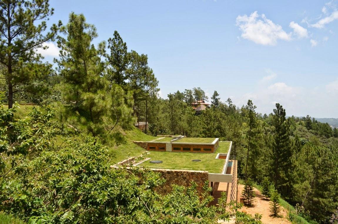 Casa con Techos Verdes en Republica Dominicana
