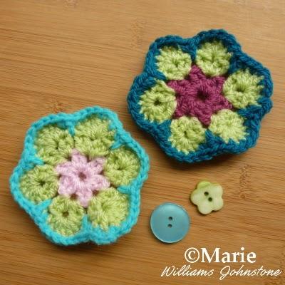 African Flower Crochet Pattern Tutorial : CraftyMarie: Free Crochet Pattern African Flower Tutorial