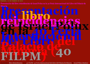 Presentación libro reincidencias de Israel Pólux en la 40 Feria Internacional Libro Palacio Mineria