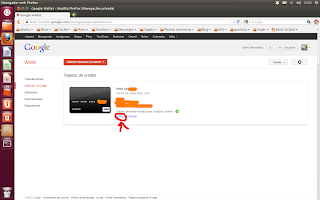Editar Google Wallet, nexus 4