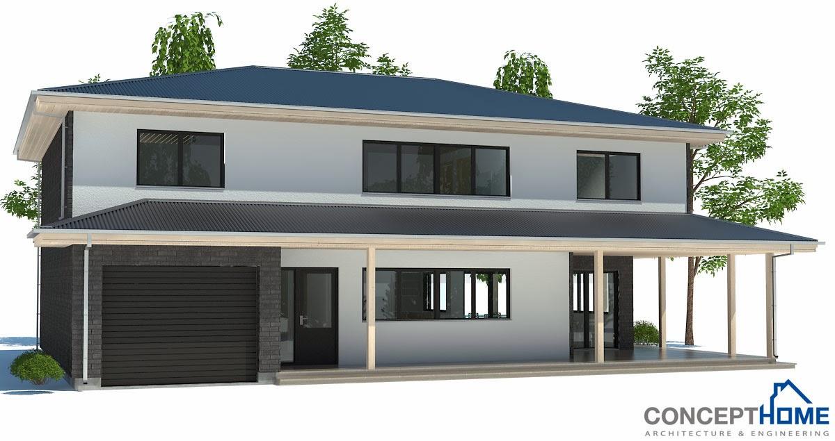 Plantas de casas modernas planta de casa moderna ch179 for Casa moderna 5