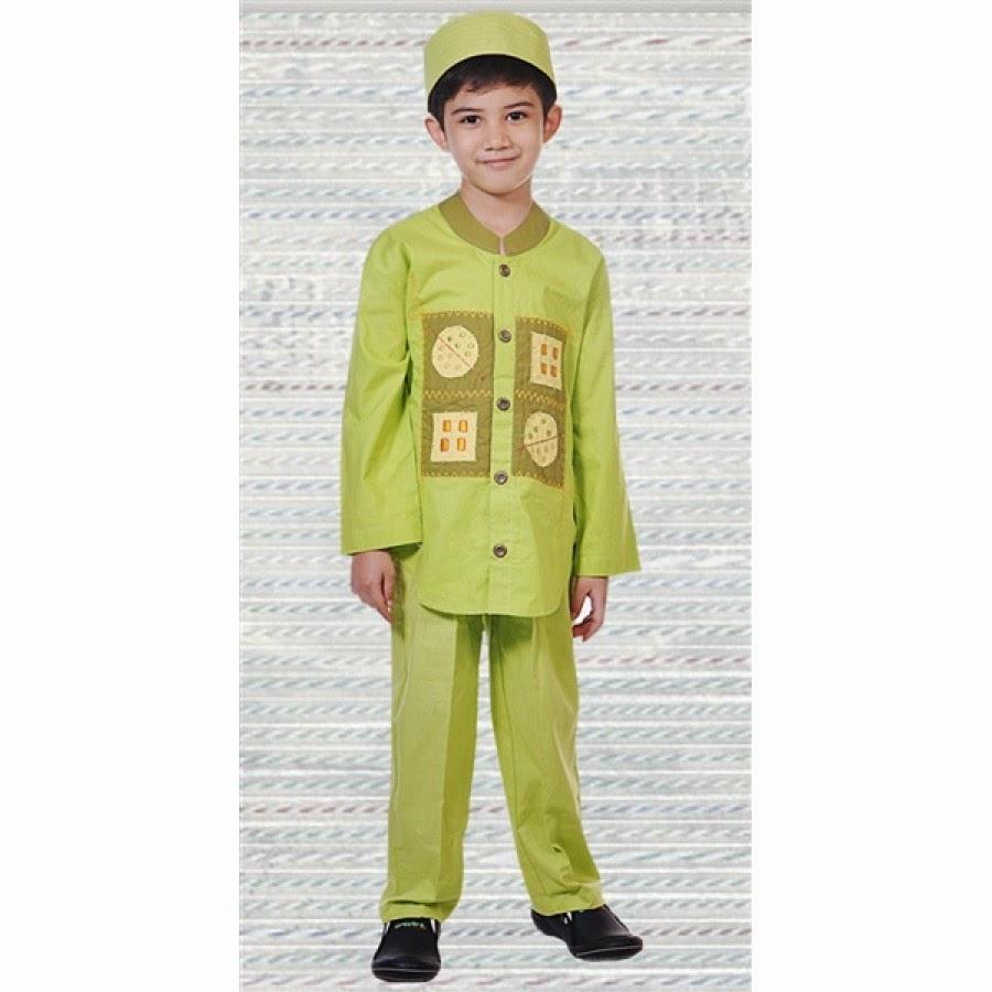 Gambar desain baju muslim anak laki-laki trendy