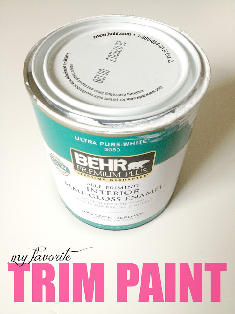 When I Apply My Trim Paint ...